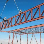 Minco School Truss Erection